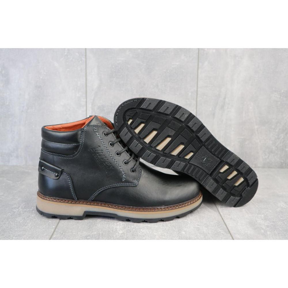 Мужские ботинки зимние - Мужские ботинки кожаные зимние черные Yuves 775 1
