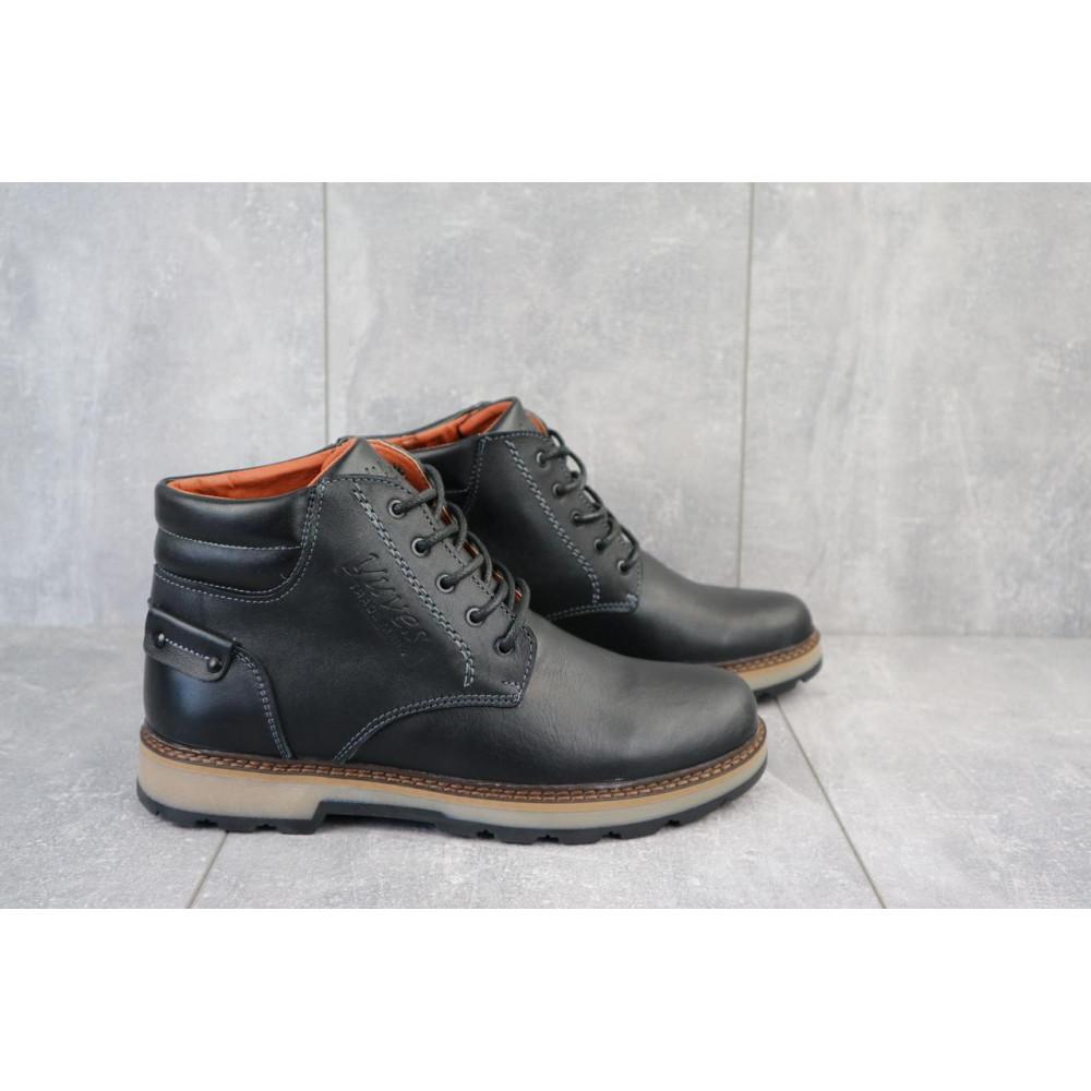 Мужские ботинки зимние - Мужские ботинки кожаные зимние черные Yuves 775 5