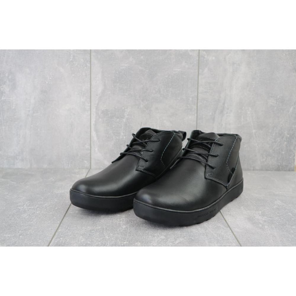Мужские ботинки зимние - Мужские ботинки кожаные зимние черные Yuves 777chorn 7