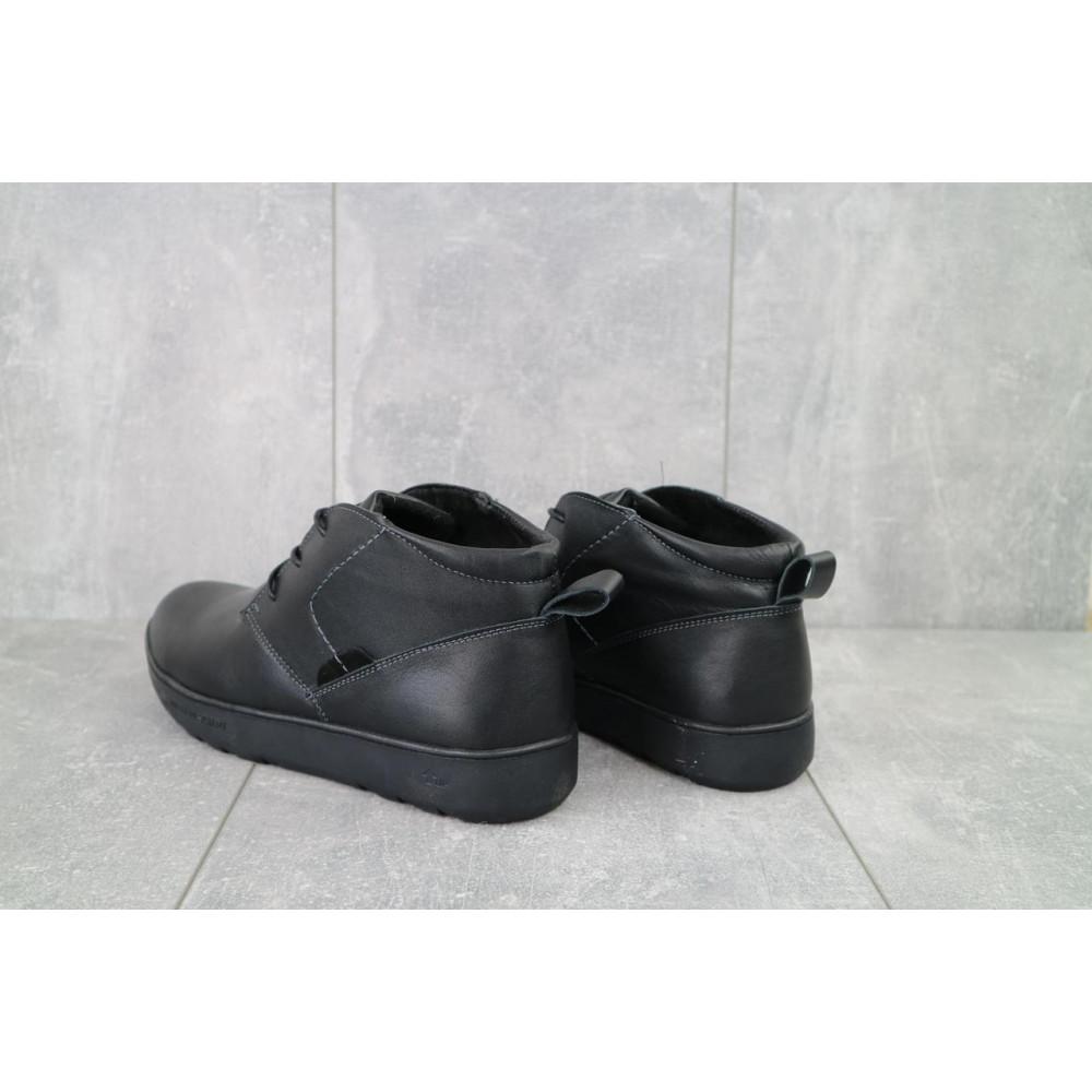 Мужские ботинки зимние - Мужские ботинки кожаные зимние черные Yuves 777chorn 6