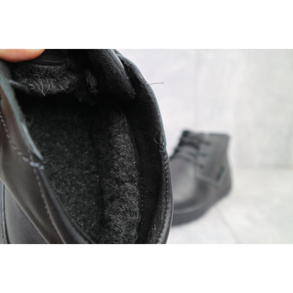 Мужские ботинки зимние - Мужские ботинки кожаные зимние черные Yuves 777chorn 5