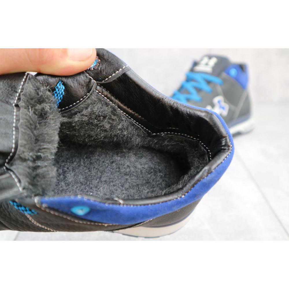 Зимние кроссовки мужские - Мужские кроссовки кожаные зимние черные-серые CrosSAV 121 5