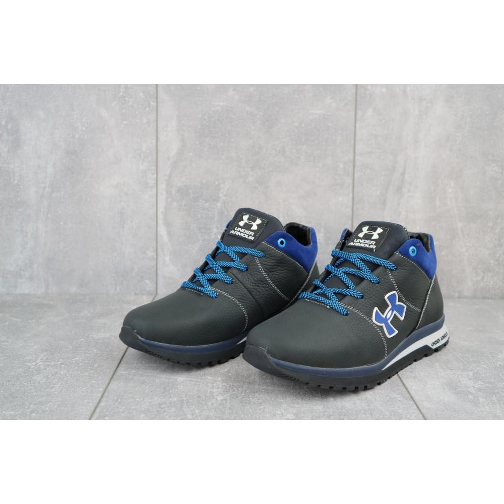 Зимние кроссовки мужские - Мужские кроссовки кожаные зимние черные-серые CrosSAV 121 3