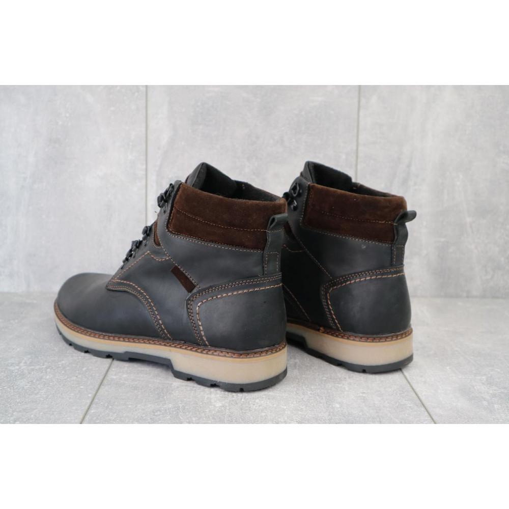Мужские ботинки зимние - Мужские ботинки кожаные зимние черные-матовые Yuves 779 3