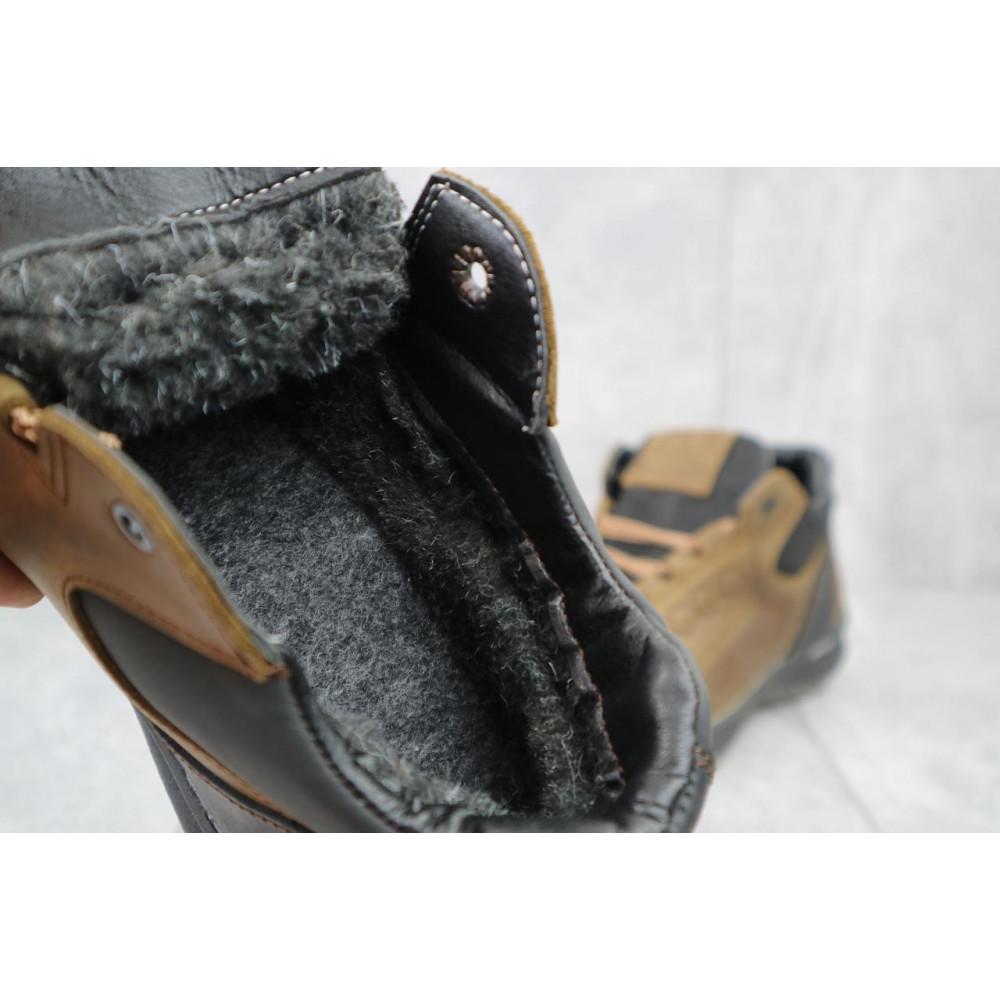 Зимние кроссовки мужские - Мужские кроссовки кожаные зимние черные CrosSAV 38 5