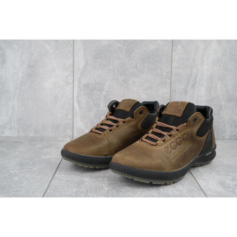Зимние кроссовки мужские - Мужские кроссовки кожаные зимние черные CrosSAV 38 3