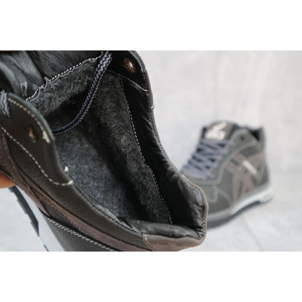 Зимние кроссовки мужские - Мужские кроссовки кожаные зимние синие-голубые CrosSAV 25 5
