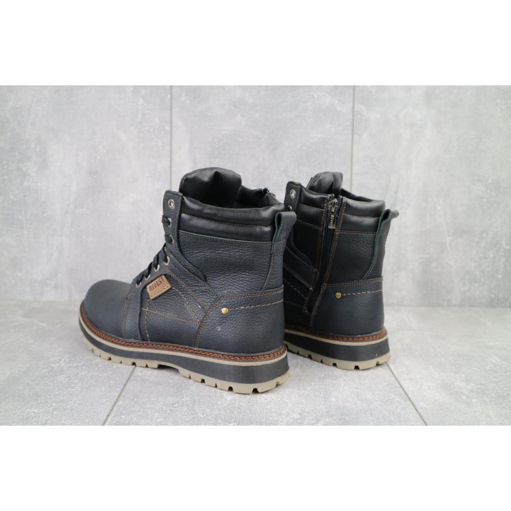 Мужские ботинки зимние - Мужские ботинки кожаные зимние черные Rivest 30 3