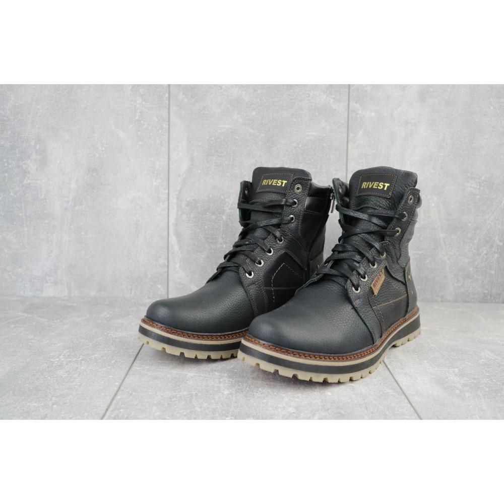 Мужские ботинки зимние - Мужские ботинки кожаные зимние черные Rivest 30 2