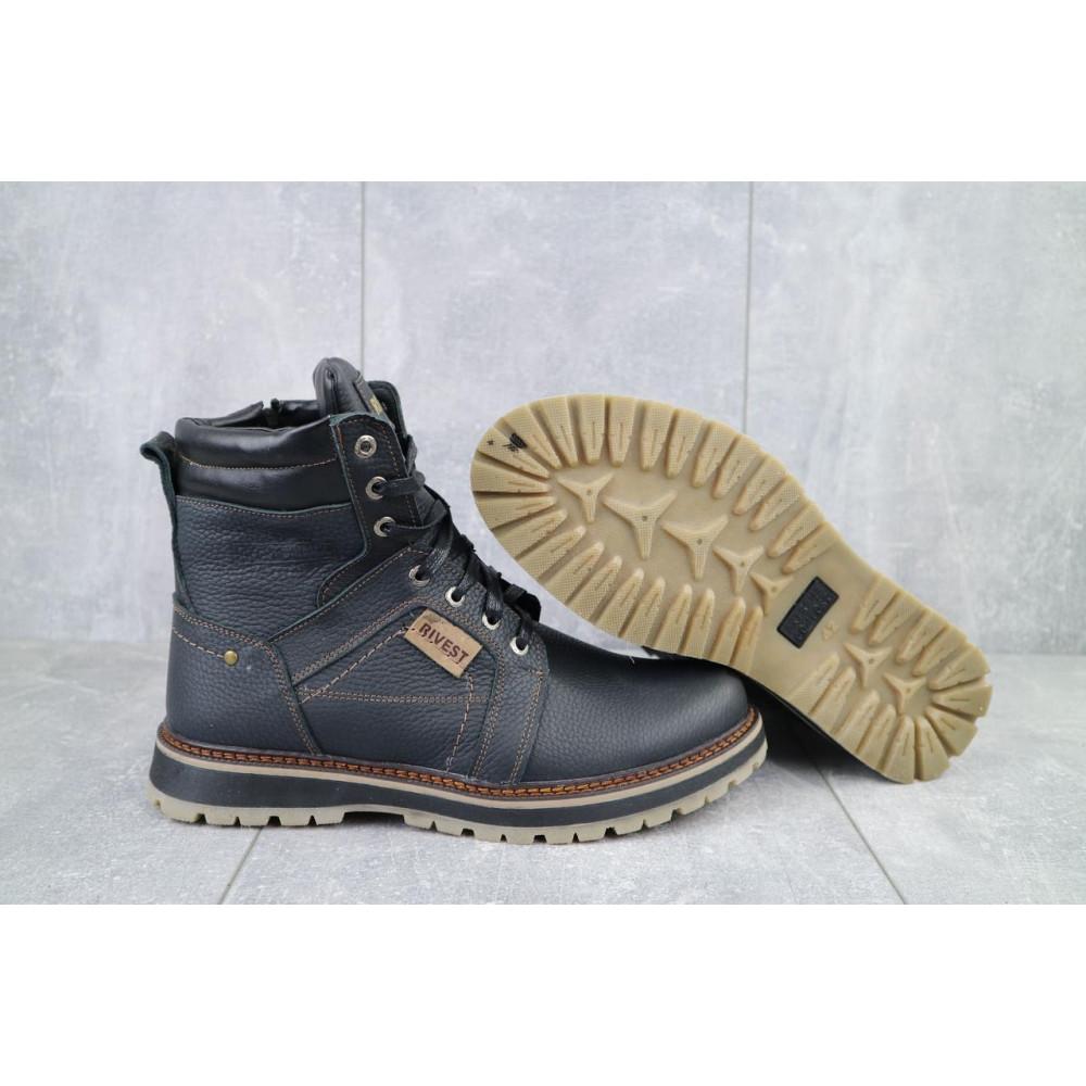 Мужские ботинки зимние - Мужские ботинки кожаные зимние черные Rivest 30 5