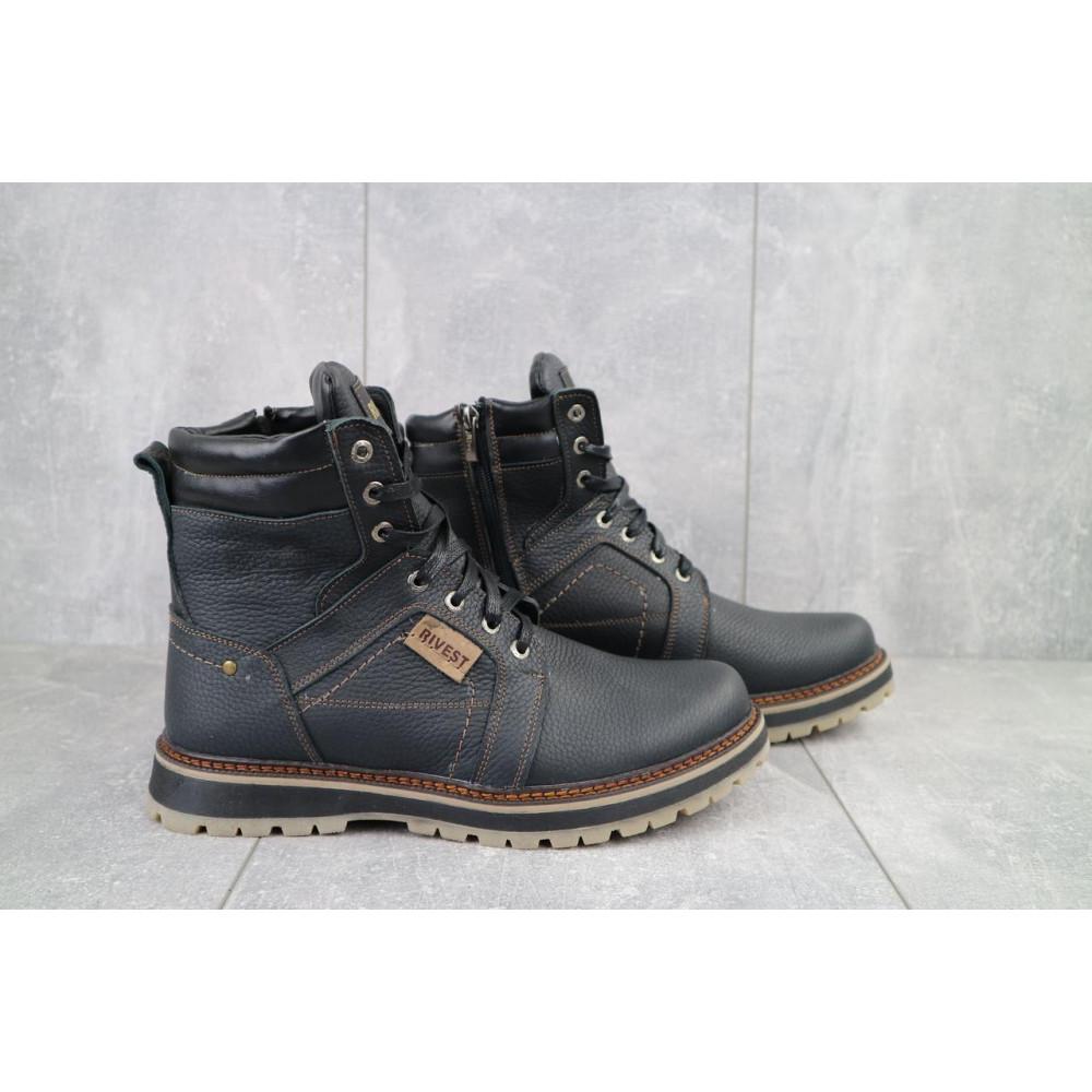 Мужские ботинки зимние - Мужские ботинки кожаные зимние черные Rivest 30 1