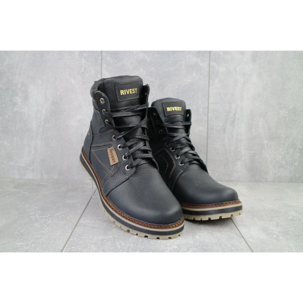 Мужские ботинки зимние - Мужские ботинки кожаные зимние черные Rivest 30