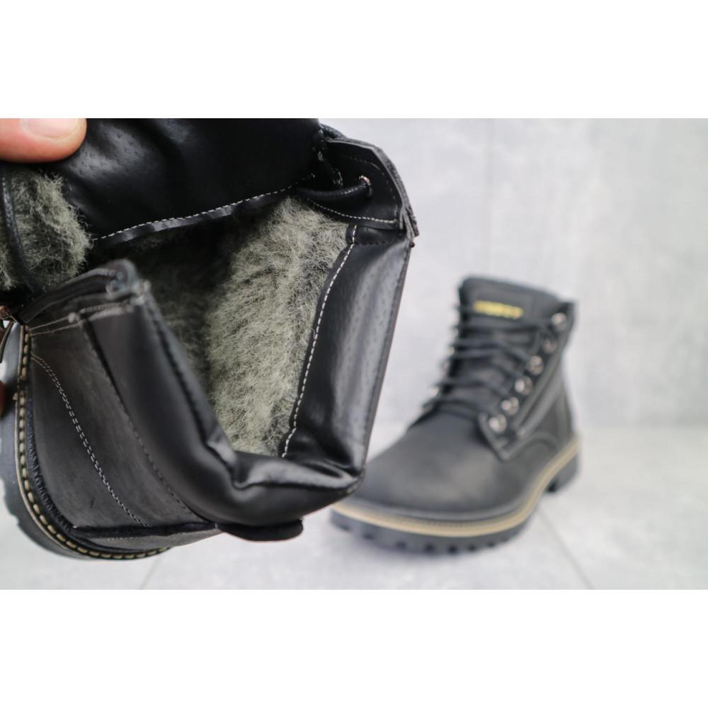 Мужские ботинки зимние - Мужские ботинки кожаные зимние черные Rivest R 4