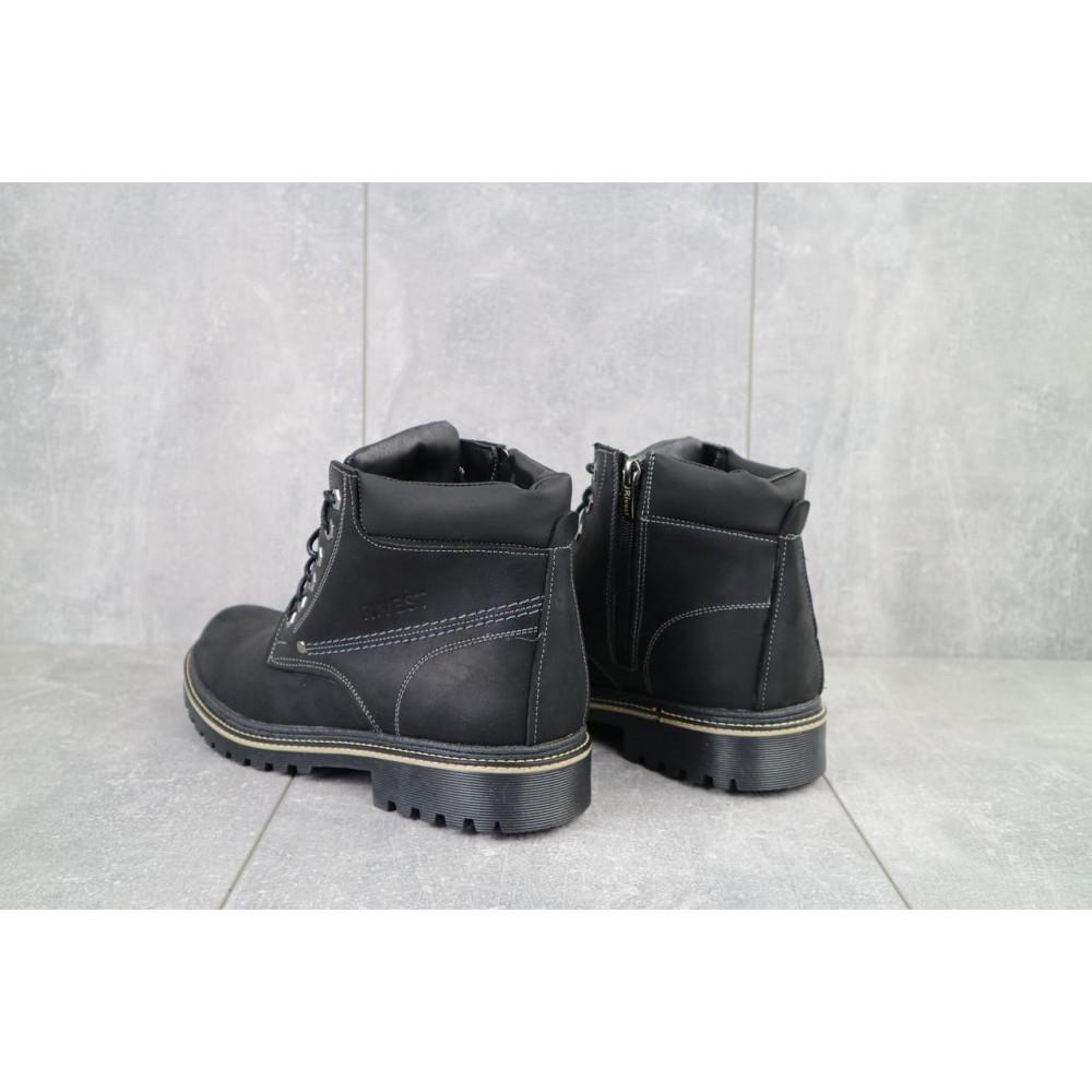 Мужские ботинки зимние - Мужские ботинки кожаные зимние черные Rivest R 3