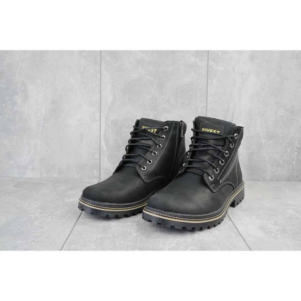 Мужские ботинки зимние - Мужские ботинки кожаные зимние черные Rivest R 2