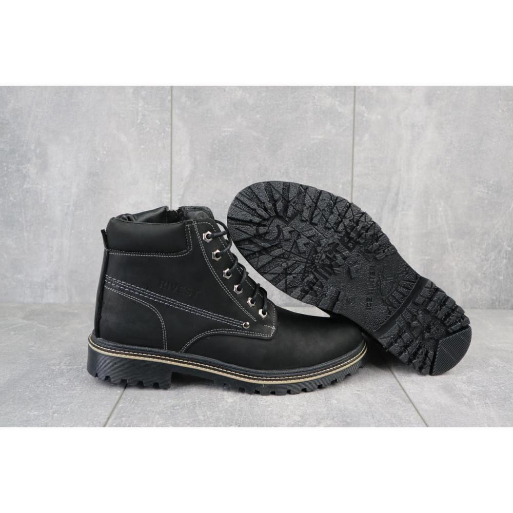 Мужские ботинки зимние - Мужские ботинки кожаные зимние черные Rivest R 5