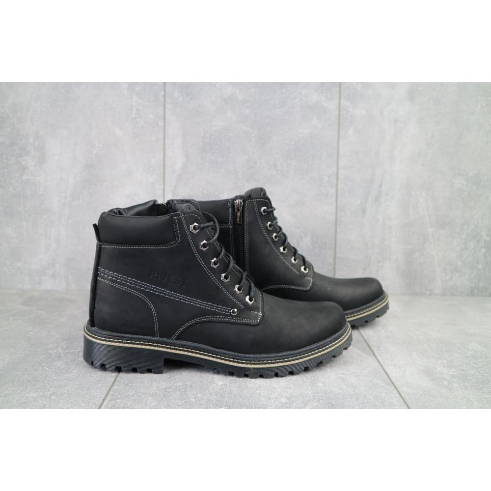 Мужские ботинки зимние - Мужские ботинки кожаные зимние черные Rivest R 1