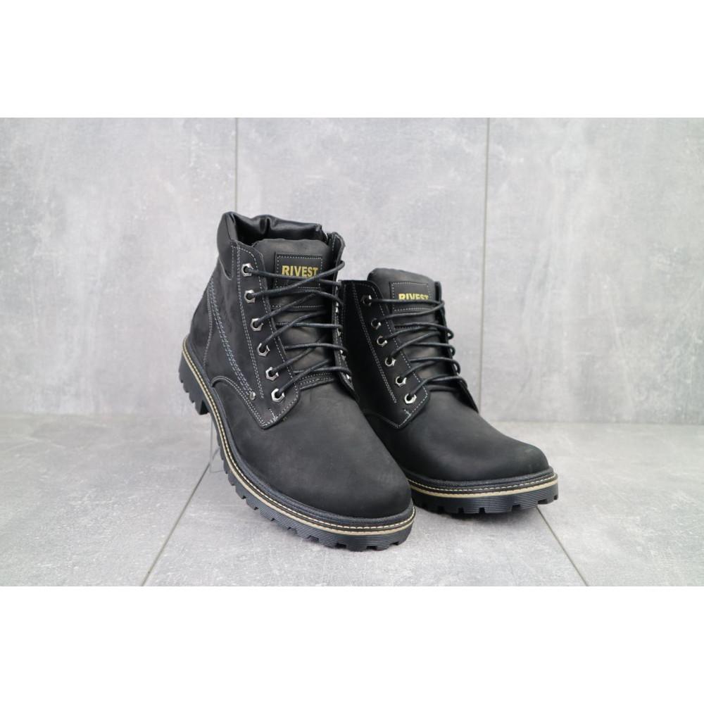 Мужские ботинки зимние - Мужские ботинки кожаные зимние черные Rivest R