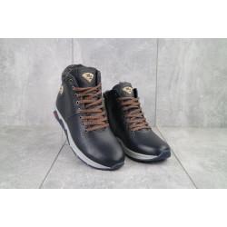 Подростковые ботинки кожаные зимние синие Milord Olimp