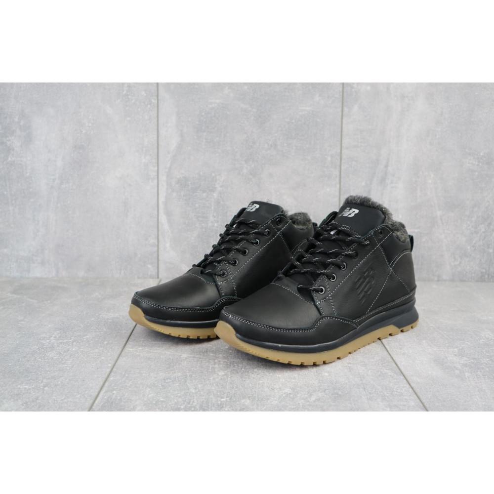 Зимние кроссовки мужские - Мужские кроссовки кожаные зимние черные Anser 100 5