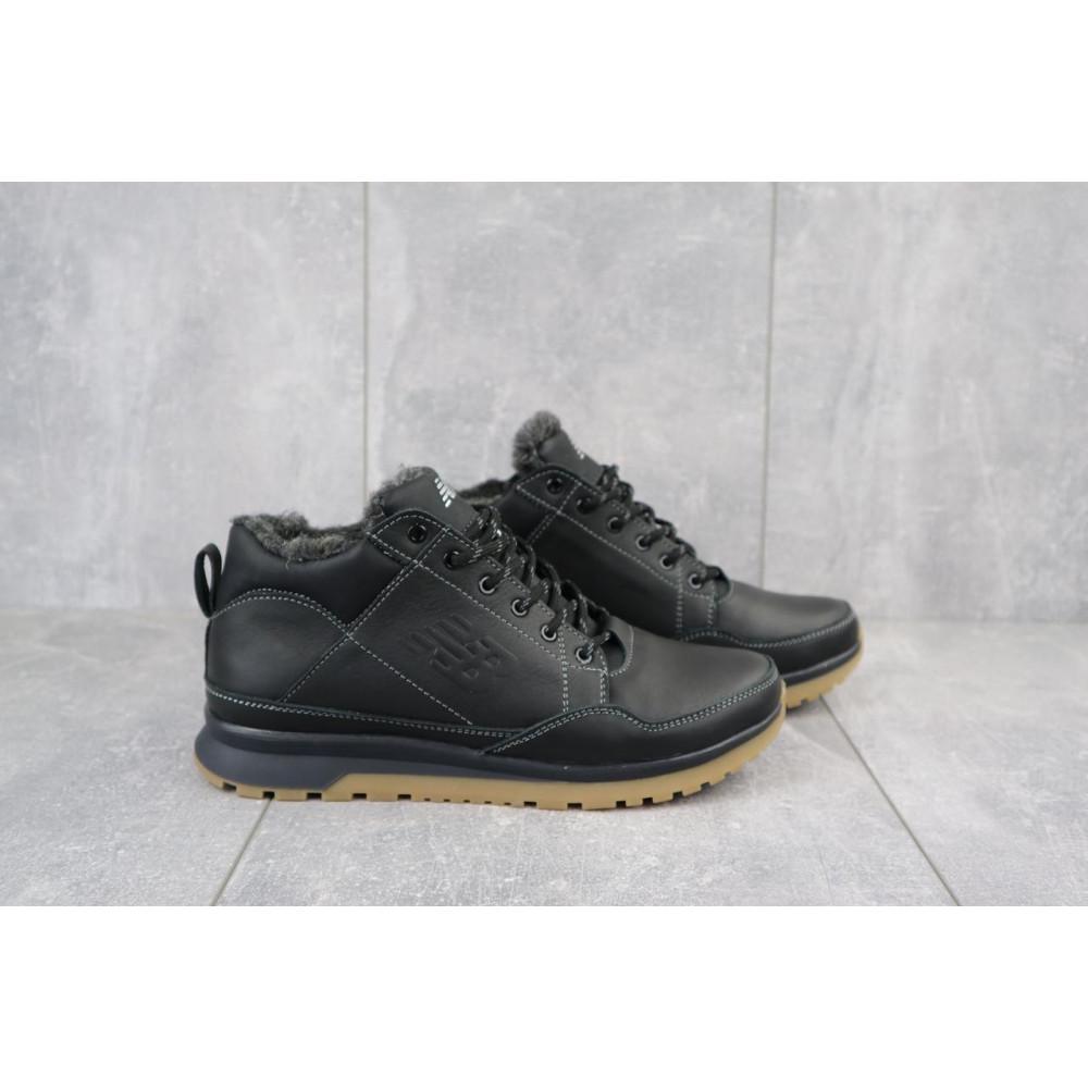 Зимние кроссовки мужские - Мужские кроссовки кожаные зимние черные Anser 100 3