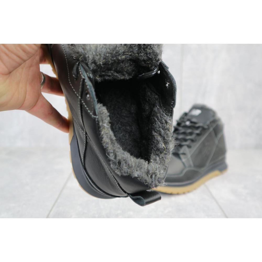 Зимние кроссовки мужские - Мужские кроссовки кожаные зимние черные Anser 100 2