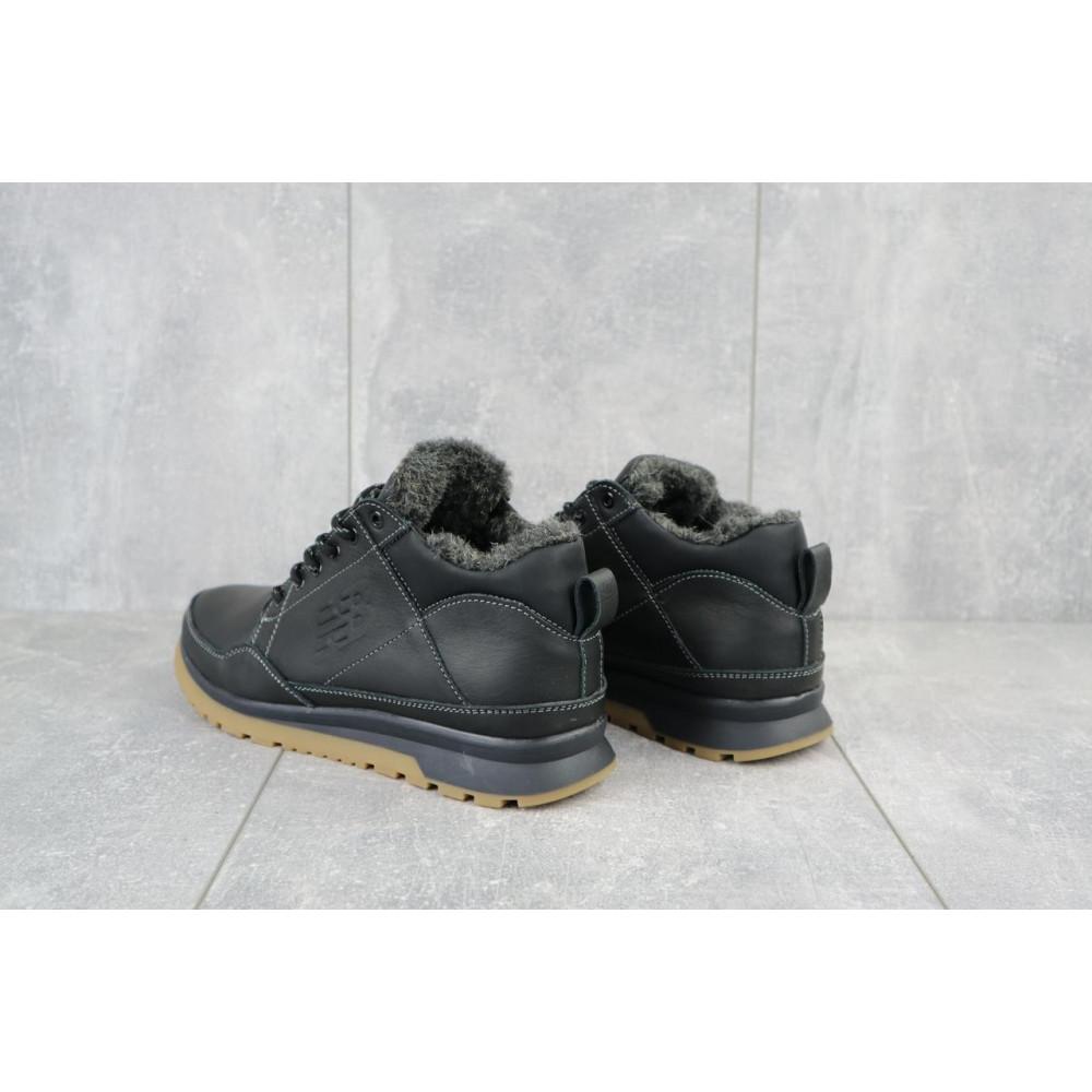 Зимние кроссовки мужские - Мужские кроссовки кожаные зимние черные Anser 100 1