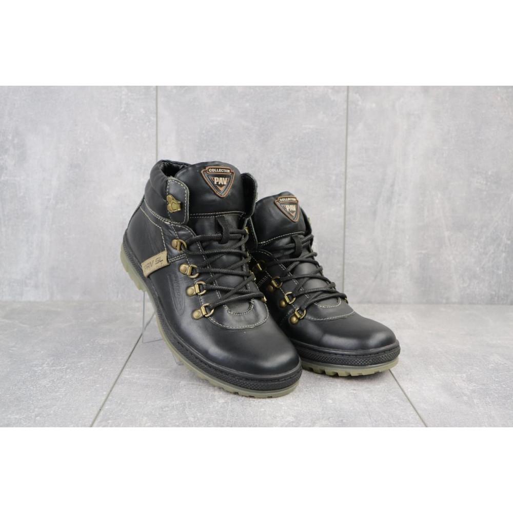 Мужские ботинки зимние - Мужские ботинки кожаные зимние черные Pav 3231