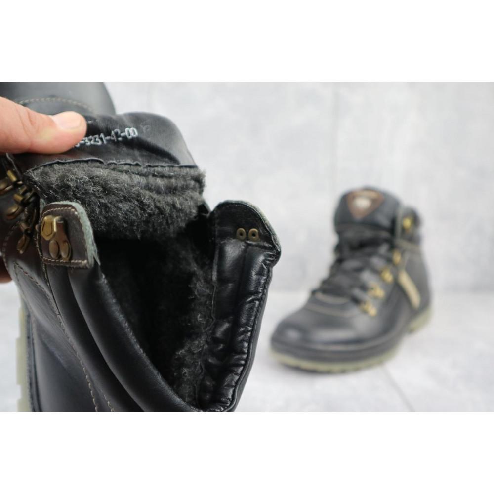 Мужские ботинки зимние - Мужские ботинки кожаные зимние черные Pav 3231 4