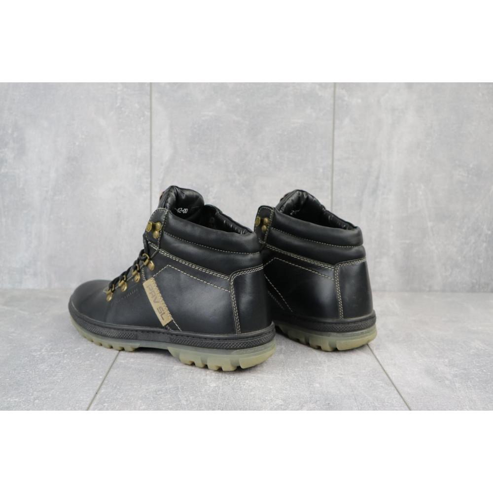 Мужские ботинки зимние - Мужские ботинки кожаные зимние черные Pav 3231 3