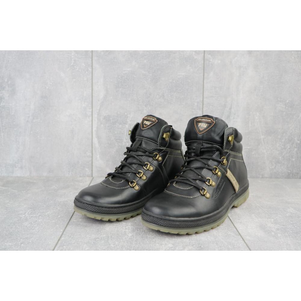 Мужские ботинки зимние - Мужские ботинки кожаные зимние черные Pav 3231 2