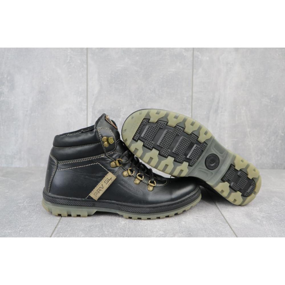 Мужские ботинки зимние - Мужские ботинки кожаные зимние черные Pav 3231 1