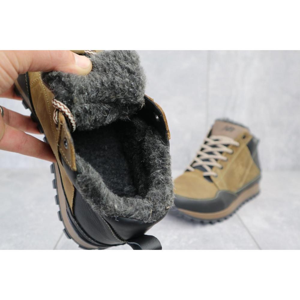 Зимние кроссовки мужские - Мужские кроссовки кожаные зимние черные-коричневые Anser 100 2