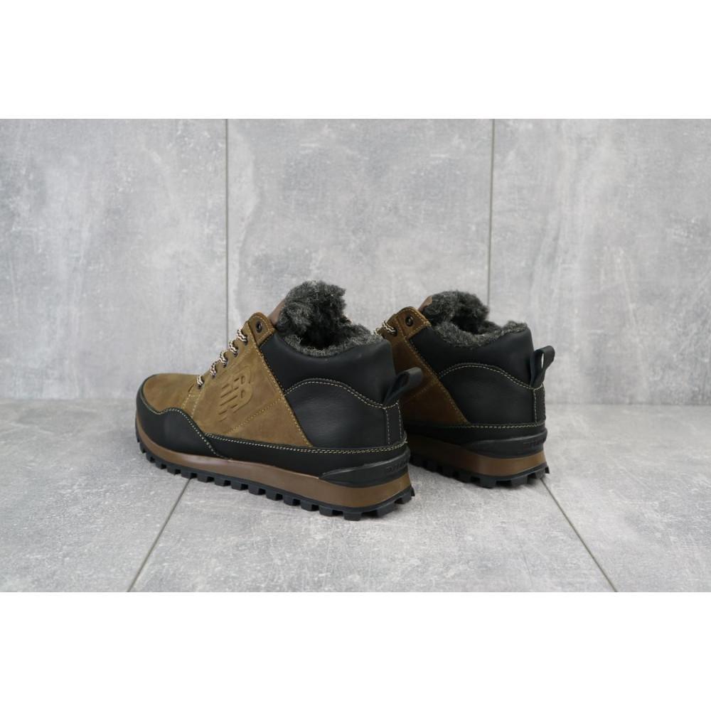 Зимние кроссовки мужские - Мужские кроссовки кожаные зимние черные-коричневые Anser 100 4