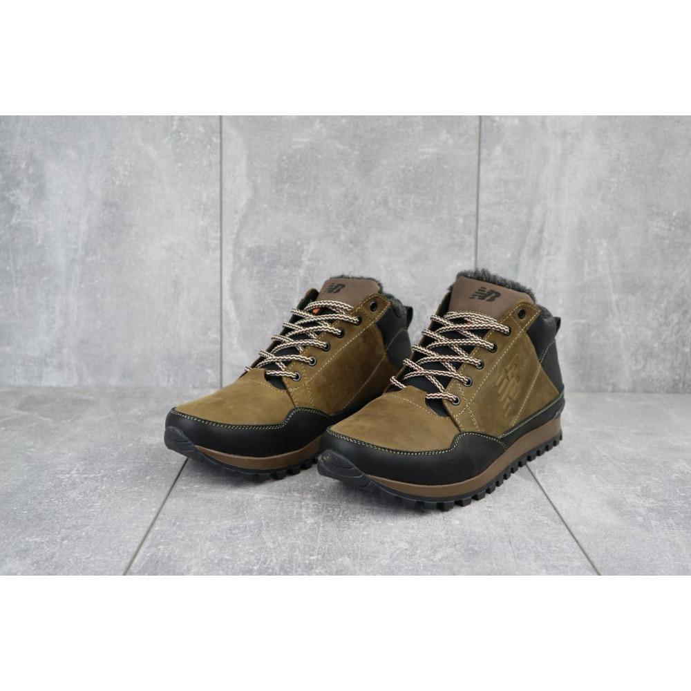 Зимние кроссовки мужские - Мужские кроссовки кожаные зимние черные-коричневые Anser 100 1