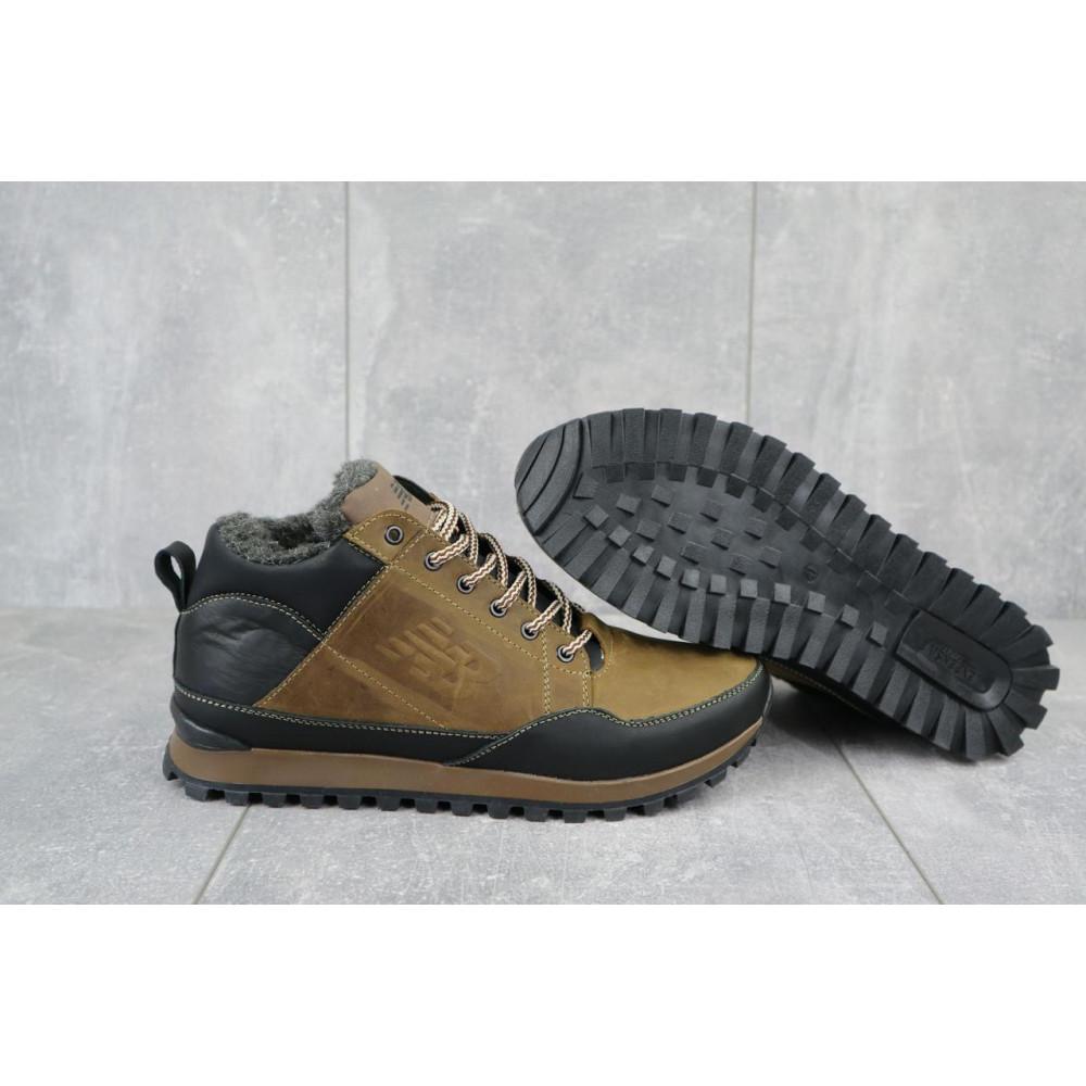 Зимние кроссовки мужские - Мужские кроссовки кожаные зимние черные-коричневые Anser 100 5