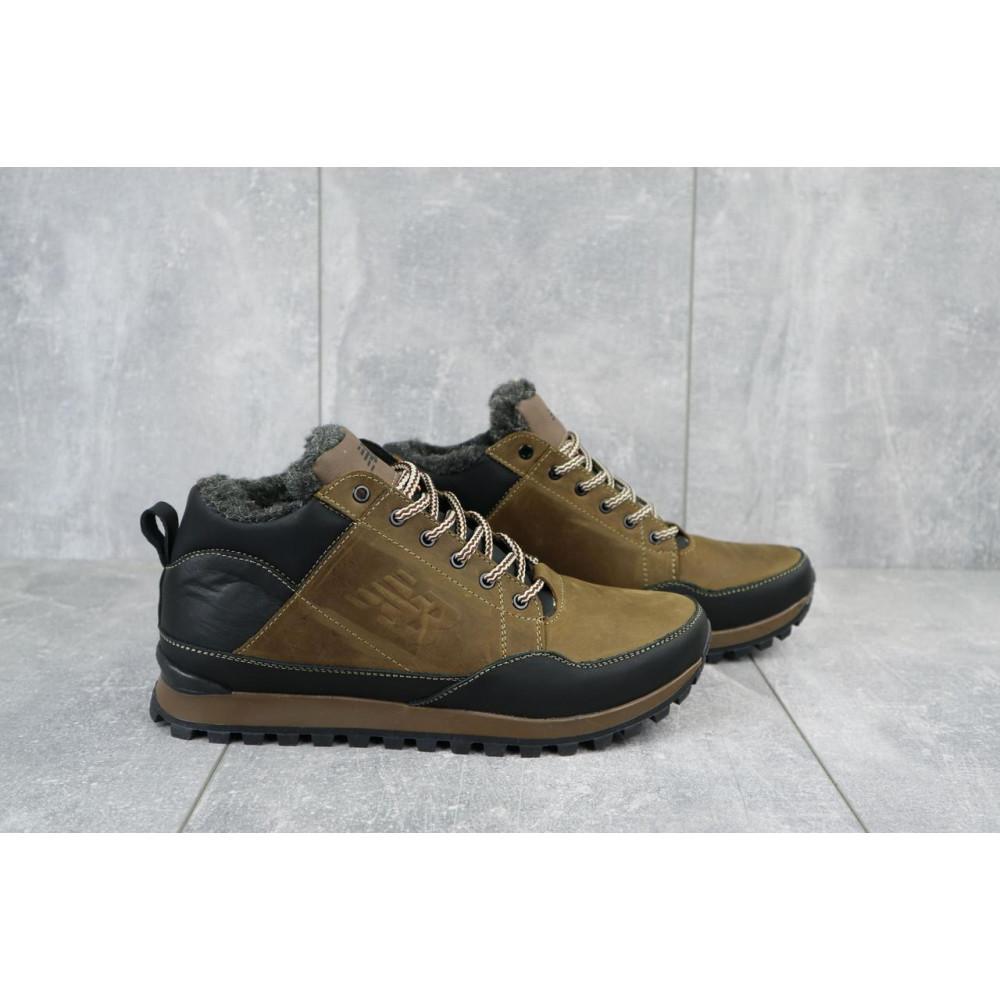 Зимние кроссовки мужские - Мужские кроссовки кожаные зимние черные-коричневые Anser 100 3