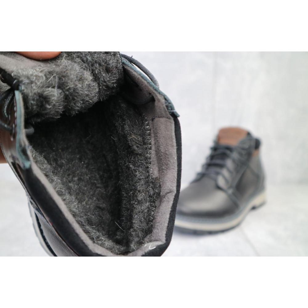 Мужские ботинки зимние - Мужские ботинки кожаные зимние черные Maxus KET 2 4