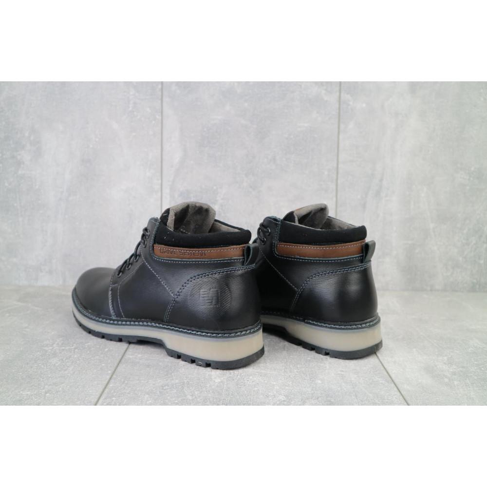 Мужские ботинки зимние - Мужские ботинки кожаные зимние черные Maxus KET 2 2