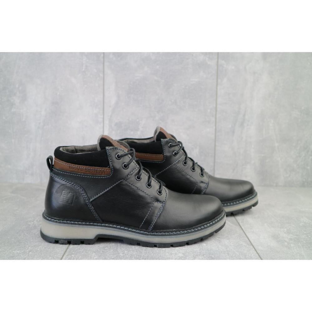 Мужские ботинки зимние - Мужские ботинки кожаные зимние черные Maxus KET 2 5