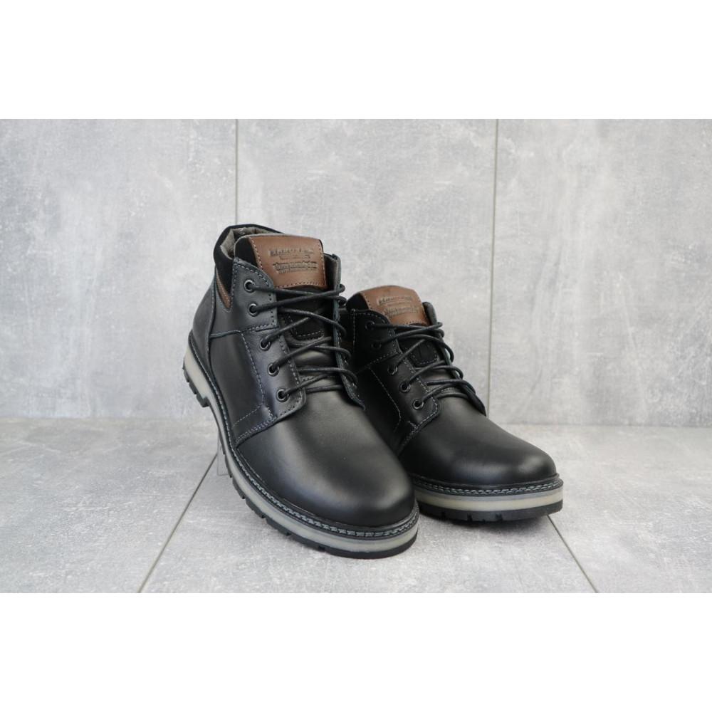 Мужские ботинки зимние - Мужские ботинки кожаные зимние черные Maxus KET 2
