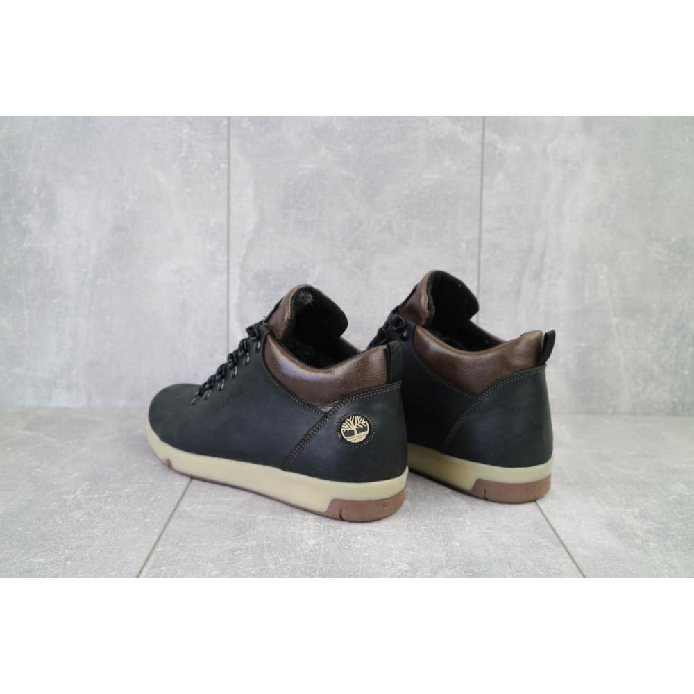 Мужские ботинки зимние - Мужские ботинки кожаные зимние черные-матовые Yuves 773 5