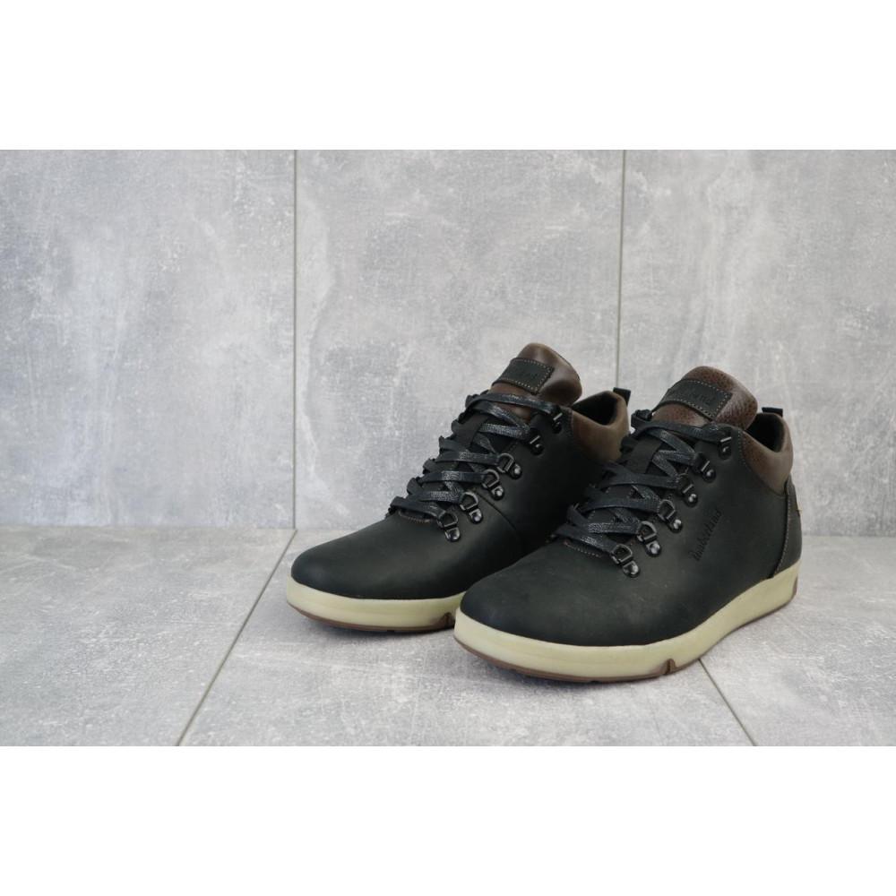 Мужские ботинки зимние - Мужские ботинки кожаные зимние черные-матовые Yuves 773 6