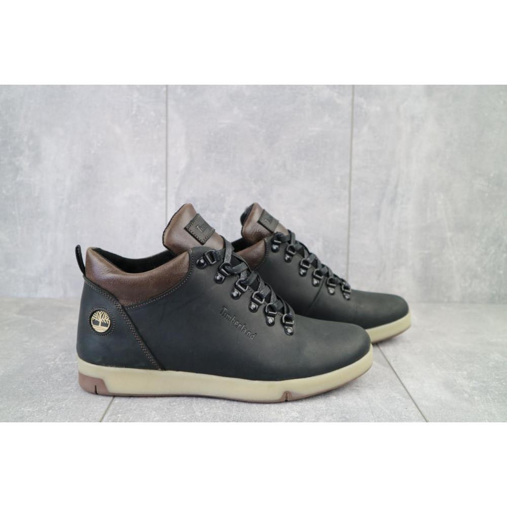 Мужские ботинки зимние - Мужские ботинки кожаные зимние черные-матовые Yuves 773 4
