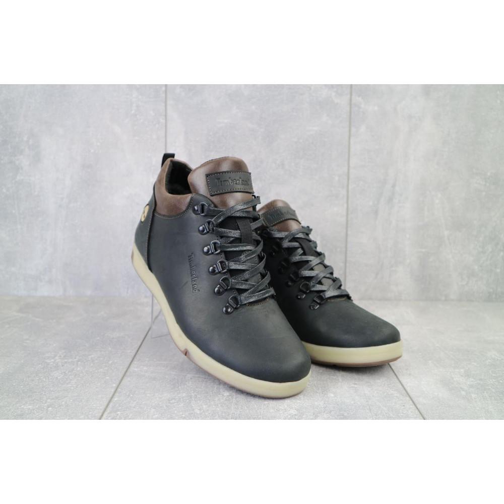 Мужские ботинки зимние - Мужские ботинки кожаные зимние черные-матовые Yuves 773