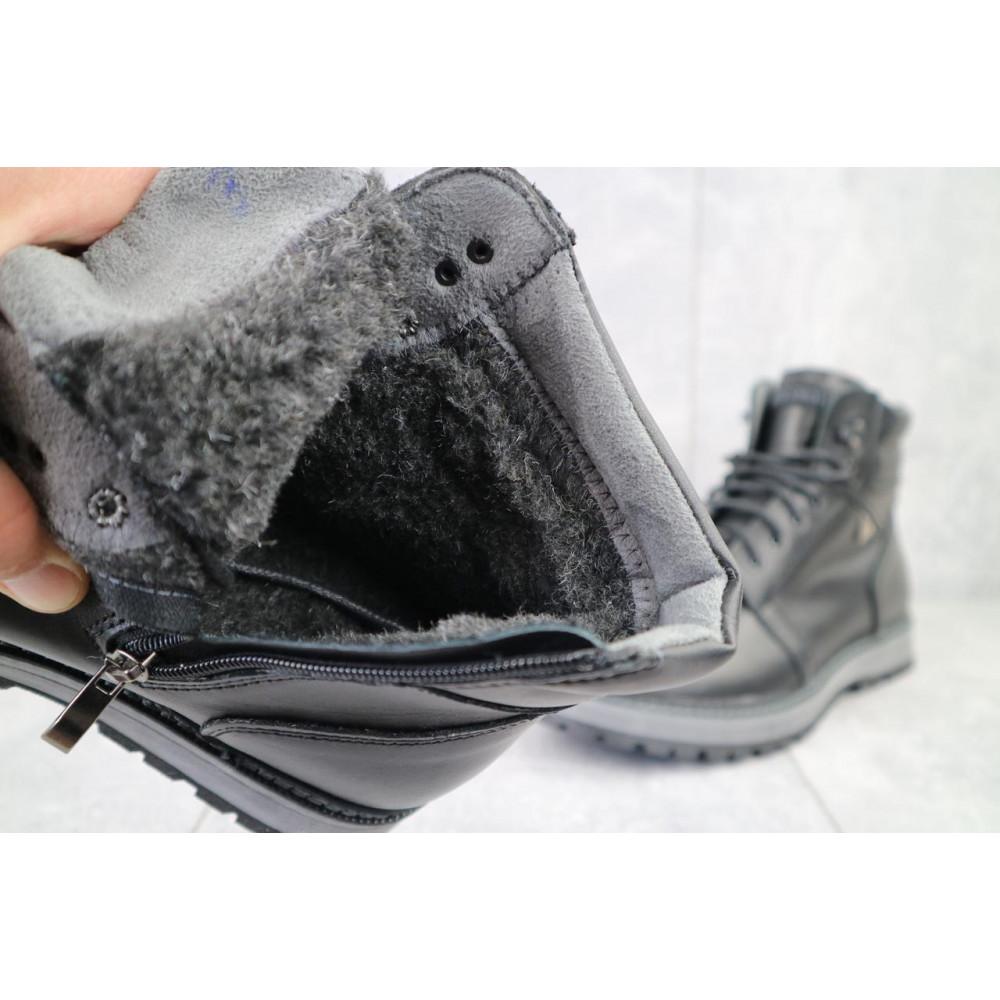 Мужские ботинки зимние - Мужские ботинки кожаные зимние черные Maxus KET 3 4