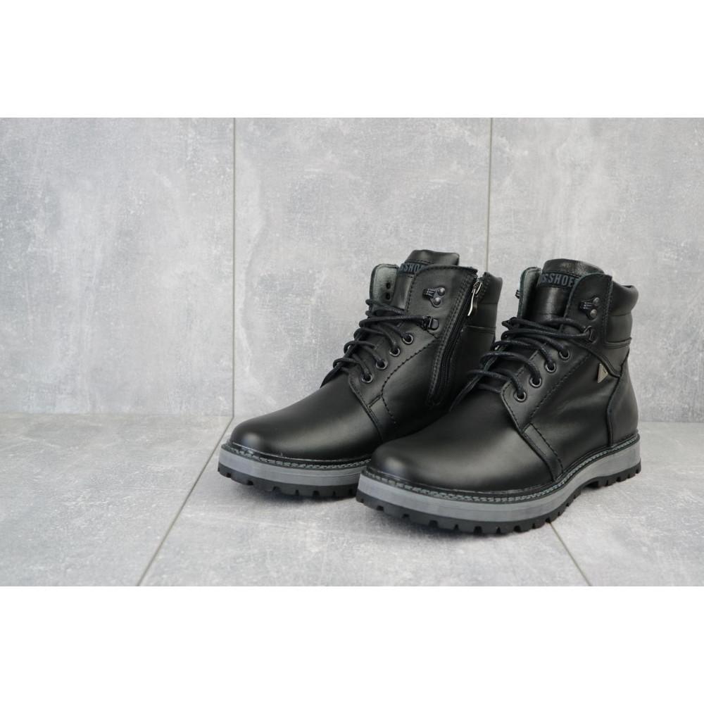 Мужские ботинки зимние - Мужские ботинки кожаные зимние черные Maxus KET 3 1