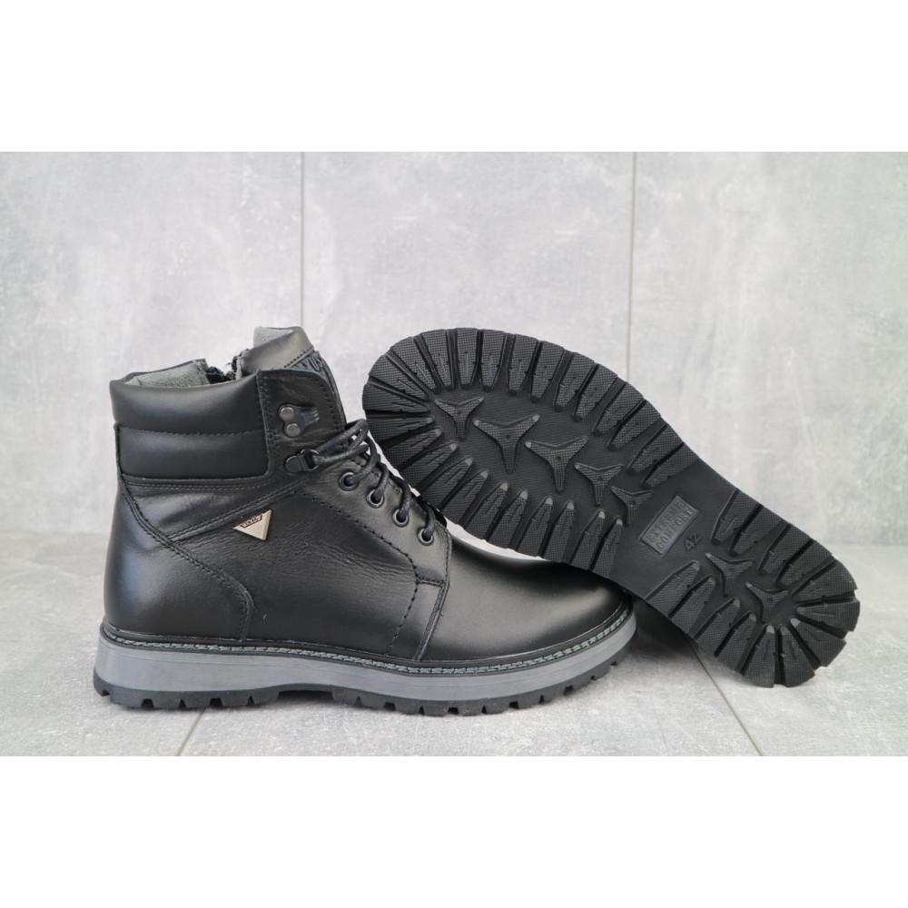 Мужские ботинки зимние - Мужские ботинки кожаные зимние черные Maxus KET 3 3