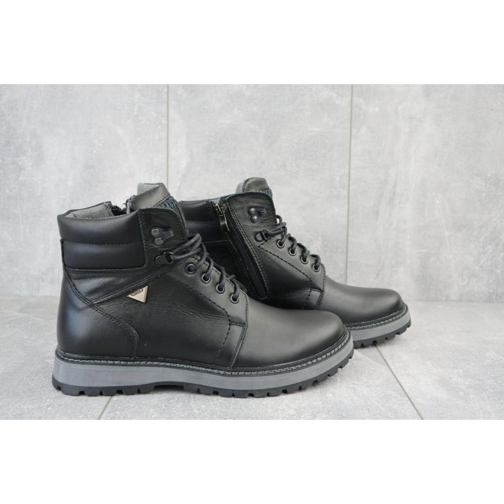 Мужские ботинки зимние - Мужские ботинки кожаные зимние черные Maxus KET 3 5