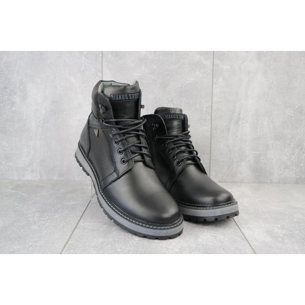 Мужские ботинки зимние - Мужские ботинки кожаные зимние черные Maxus KET 3